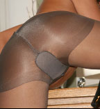 Hottie Wearing Only Pantyhose In Kitchen - Picture 6