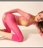 Cute Babe In Pink Pantyhose - Picture 9